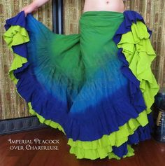 As a premiere Tribal Style Belly Dance and historical costumer Lady Faie has created fashions for stage and multiple re-enactment venues since 1990 Twirl Skirt, Dress Skirt, Tribal Skirts, Tribal Dance, Tribal Fusion, Dance Class, Bohemian Gypsy, Style Clothes, Woman Painting