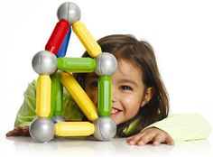 SmartMax Magnetic Building Set Magnetic fun creating Children learn the principles of magnetism and develop fine motor skills Pieces sized right for young hands Spheres easily click onto the magnetic bars Giant, non-swallowable 1.8 inch diameter metal balls