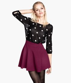 522bfb4a8 H&M - Fashion and quality at the best price | H&M US. Burgundy Skater SkirtSkater  ...