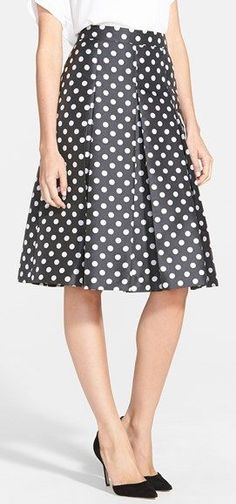 Halogen® Pleat Midi Skirt (Regular & Petite) available at Pleated Midi Skirt, Dress Skirt, Dress Up, Midi Skirts, Full Skirts, A Line Skirts, Modest Outfits, Skirt Outfits, Classy And Fabulous