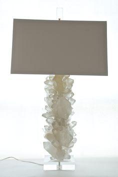 Quartz Crystal Lamp with Acrylic Base