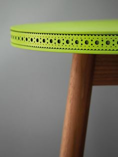 laser cut leather stool