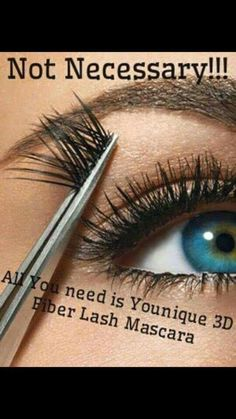 No need to ever wear false lash again! Younique mascara is all you need my link to order https://www.youniqueproducts.com/RobinPowers/party/1187514/view