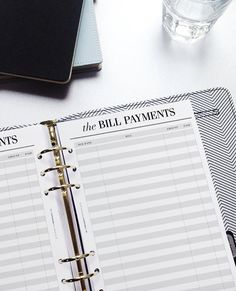 PRINTED A5 Planner Inserts Bill Pay A5 by CrossbowPrintables