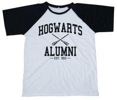 Great gift for Potter's fans. Printed T-Shirts – HOGWARTS ALUMNI T-Shirt Raglan Jersey Unisex – a unique product by iShirt via en.DaWanda.com