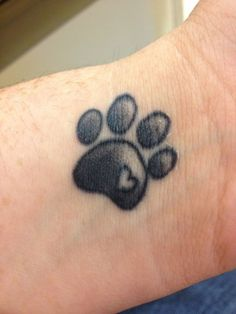amazing paw print tattoo on inner wrist wallpaper