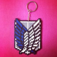 Attack on Titan :Special Ops Survey orps Scouting Legion keyring hama beads by Worldof8bitCraft