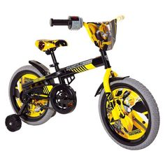 "Transformers Bumblebee 16"" Kids' Bike with Training Wheels - Yellow/Gray : Target"