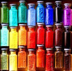 Rainbow paint pigment color