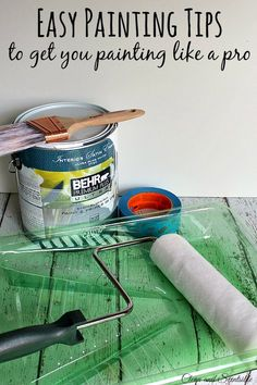 Lots of easy to follow DIY painting tips and tricks to get you painting like a pro! // cleanandscentsible.com