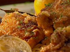 Lemon-Garlic Chicken Thighs from FoodNetwork.com