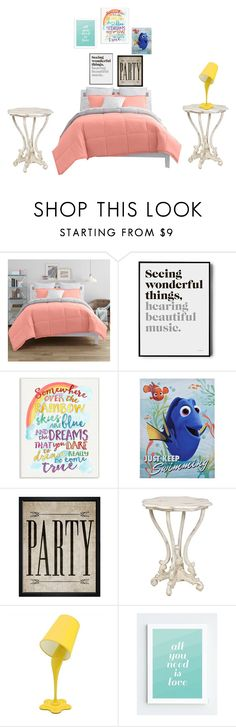 """""""Quarto"""" by jehfraga12 ❤ liked on Polyvore featuring interior, interiors, interior design, home, home decor, interior decorating, JCPenney Home, Stupell, Hatcher & Ethan and LumiSource"""