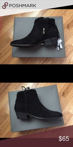 Black Suede Booties Black Suede Booties New in Box Vince Camuto Shoes Ankle Boots & Booties