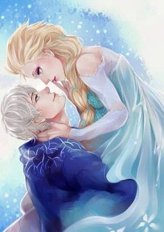 Jack Frost and Elsa <3