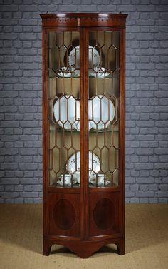edwardian mahogany corner cabinet - Google Search