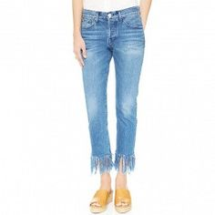 3x1 fringed jeans.