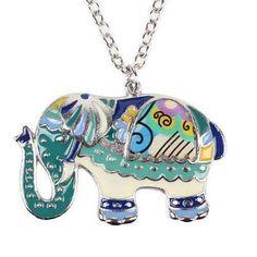 Colourful Elephant Necklace