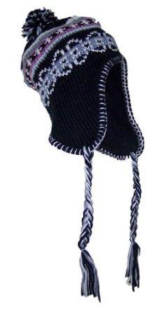 Pax Trading Women Ladies Jacquard Winter Ear Flap Hat (One Size)-Black Pax Trading. $8.99