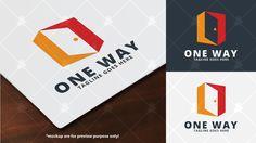 One Way Logo Template
