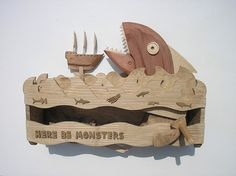 BIG FISH Here be monster fish automata by Wanda Sowry, via Flickr