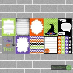 PLANNER SQUARE STICKERS - HALLOWEEN PACK INCLUDES: 9 squares and 4 checklists