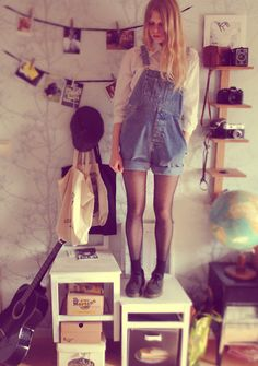 Shirt, Dungarees, Dr. Martens Shoes