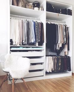Ideas diy closet organization ikea pax wardrobe for 2019 Small Bedroom Organization, Wardrobe Organisation, Bedroom Storage, Closet Organization, Organization Ideas, Storage Ideas, Storage Baskets, Storage Hacks, Diy Storage