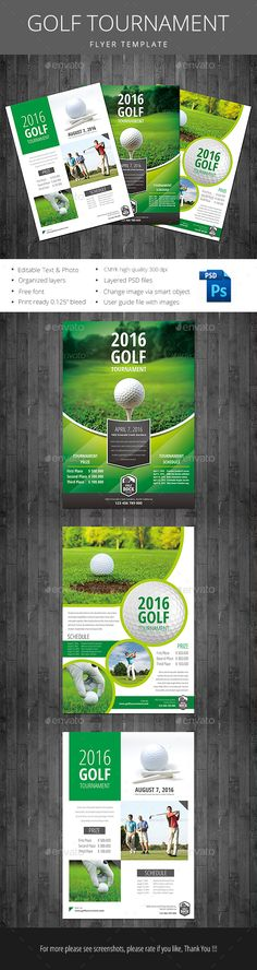 Charity Golf Tournament  Flyer Design Templates