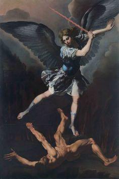 «San Michele arcangelo in lotta con il demonio» di Francesco Cozza, 1650 ca, Roma, Santa Maria del Carmine alle Tre Cannelle