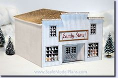 Build a Replica Steam Sawmill for your Model Train Layout N Scale Buildings, Engine House, Blacksmith Shop, Glitter Houses, Model Train Layouts, Round House, Modular Homes, Paper Models, Christmas Crafts