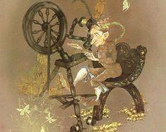 Rumpelstiltskin Story Book | Fairy Tale Print - Rumpelstiltskin - Vintage Print - Children's Book ...