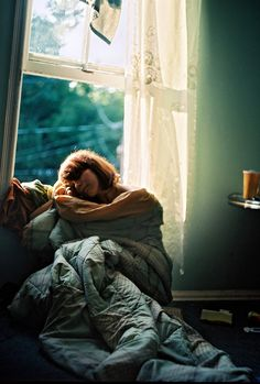 Alice in her sleepy moment - taken by Marrie, 1978