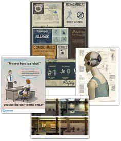 ThinkGeek :: Portal 2 Underground Poster Kit