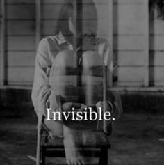 Invisible, sick and tired of it