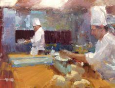 "Randy Sexton ""Greenbrier Kitchen"" 12x16, oil @The Greenbrier  @wallsfineartgallery ""Paintings of the Greenbrier"" http://www.wallsgallery.com/artists-2/randall-sexton"