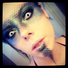 medusa makeup - Google Search/// Ideas for Envy halloween costume. Since the demon of envy is leviathan maybe scale makeup where my facial hair would be.
