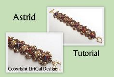 Create your own, super-elegant bracelet! Use the colors you like, make it special! ***This bracelet is featured in February 2015 issue of Bead&Button magazine*** I sell my original tutorial You will need:Czech SuperDuo two-hole beads, Pyramid spike beads(10x10mm) or Czech Pyramid spike beads12x12mm , Swarovski bicones, Czech pearls, Toho round seed beads 11/0,15/0, Toggle clasp Wide of the bracelet is 32mm. Pyramid spike beads supplier (10x10mm): https://www.etsy....
