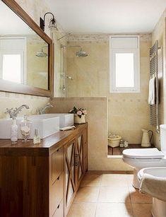 Bathroom Design & Decor - 7 Great Ideas for Your Bathroom Remodel - Ribbons & Stars Beautiful Bathrooms, Modern Bathroom, Small Bathroom, Ideas Baños, Ideas Para, Bathroom Interior Design, Sweet Home, Vanity, Decoration