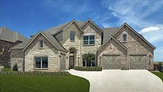 Chateau featuring stone and brick exterior