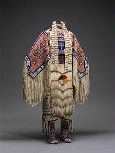 Woman's regalia and Accessories. Artist: Jodi Archambault Gillette (Native American, Hunkpapa Lakota (Teton Sioux), born North Dakota, 1969). Date: 2005. Geography: United States, North Dakota. Culture: Hunkpapa Lakota (Teton Sioux)