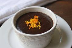 6 ounces 70-percent dark chocolate 1 tablespoon orange zest 1 teaspoon vanilla extract 2 overripe bananas 1/4 cup roasted sweet potato 1/4 c...