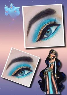 Disney inspired eye makeup #Jasmine #Aladin #Disney