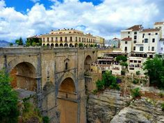 """View from the """"other side"""" (other side compared to most of my pics of this bridge) of the Puente Nuevo (New Bridge) in Ronda, Spain"""