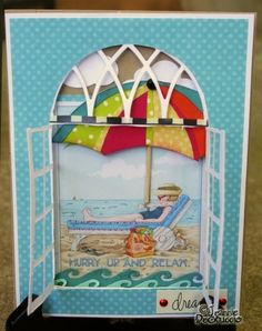 The best summer card!  From Jeannie @ The Polka Cabana.