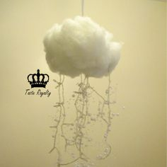 Snow Cloud Night Light, great for a nursery or kids room with it's magical look and soft glow.