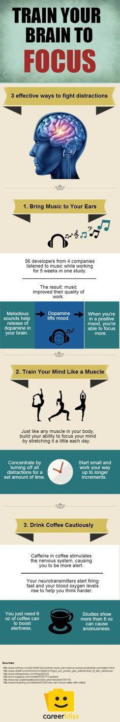 Business and management infographic & data visualisation 3 Ways to Train Your Brain to Focus Infographic Description 3 Ways to Train Your Brain to Focus Study Skills, Study Tips, Life Skills, Study Habits, 7 Habits, Mental Training, Brain Training, Self Development, Personal Development