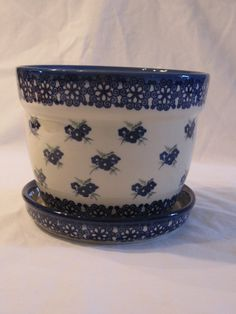 polish pottery flower pots!