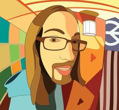 Vector self portrait by student Jess Hay.