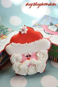 Cookie de Santa Cupcake