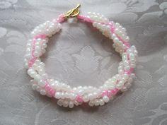 Beaded bracelet by VictorianPunkJewelry on Etsy, $15.00